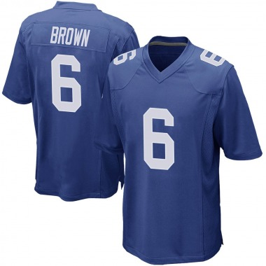 Men's Nike New York Giants Cam Brown Team Color Jersey - Royal Game