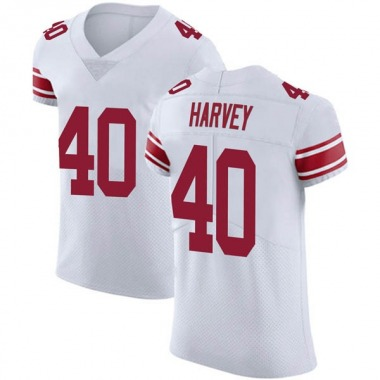 Men's Nike New York Giants Nate Harvey Vapor Untouchable Jersey - White Elite