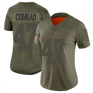 Women's Nike New York Giants C.J. Conrad 2019 Salute to Service Jersey - Camo Limited