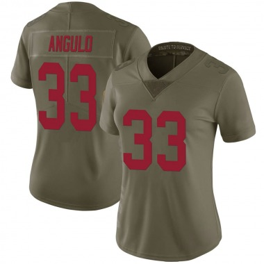 Women's Nike New York Giants Christian Angulo 2017 Salute to Service Jersey - Green Limited
