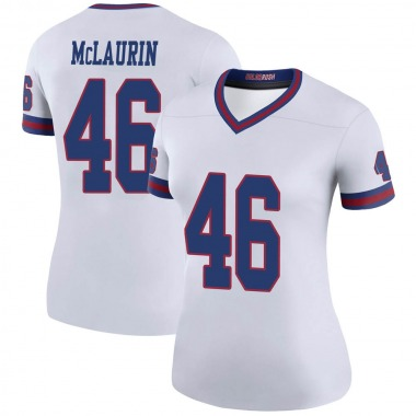 Women's Nike New York Giants Mark McLaurin Color Rush Jersey - White Legend