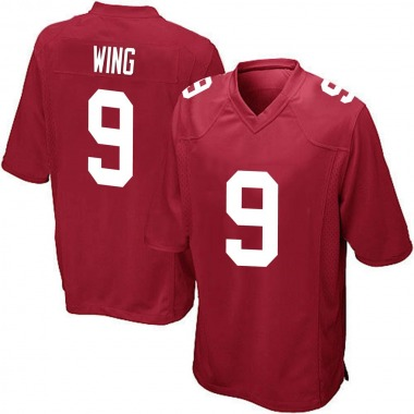 Youth Nike New York Giants Brad Wing Alternate Jersey - Red Game