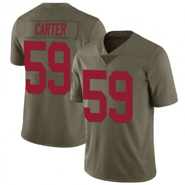 Youth Nike New York Giants Lorenzo Carter 2017 Salute to Service Jersey - Green Limited