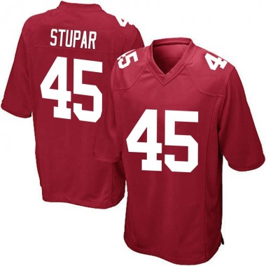 Youth Nike New York Giants Nate Stupar Alternate Jersey - Red Game