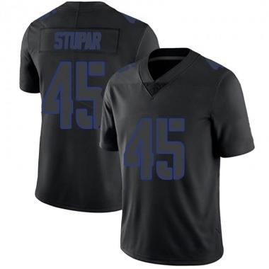 Youth Nike New York Giants Nate Stupar Jersey - Black Impact Limited
